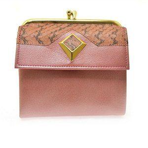 Vintage Princess Gardner Pearlized Pink Wallet NOS